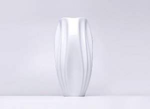 Vaso de Porcelana Ascidia Branco 37cm