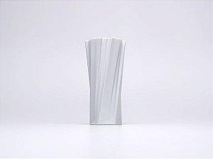 Vaso de Porcelana Torcido Branco 26cm