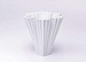 Vaso de Porcelana Branco Gelo 26cm