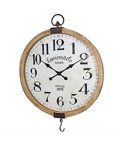 Relógio Redondo de Parede Balança 90cm