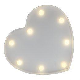 Coração Fechado Luminoso Branco