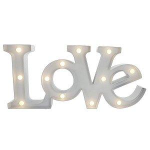 Luminária LOVE com Leds Branco 48X22cm