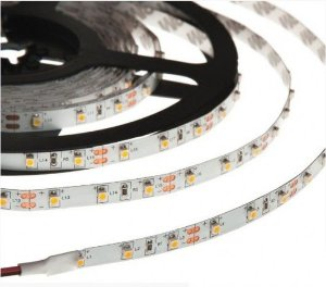 Fita de LED 3528 IP20 (Sem Proteção) 24W 12V 300 Leds 5 Metros
