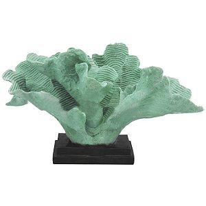 Coral Decorativo em Resina Verde 28x55x28cm
