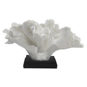 Coral Decorativo em Resina Branco 28x51x26cm