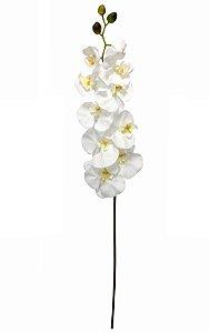 Haste de Orquidea Artificial Branca 90cm