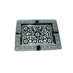 Cinzeiro de Cerâmica Quadrado 20x16cm