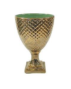Taça Bico de Jaca Cerâmica Cobre 15x24cm