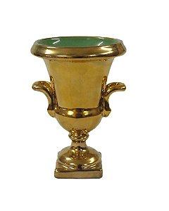 Taça Siena Cerâmica Bronze e Verde 16cm