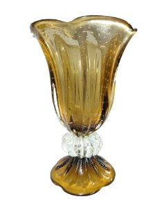 Vaso de Cristal Marrom 50cm