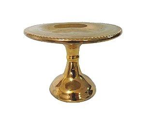 Mini Boleira de Cerâmica Dourado 15cm