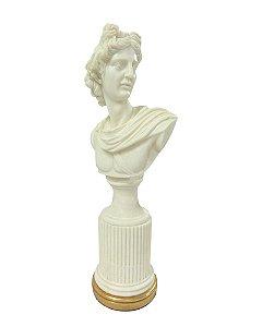 Figura Decorativa Masculina em Resina Marmorizada 46cm