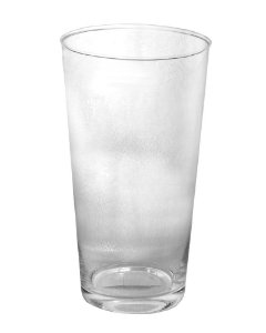Vaso de Vidro Redondo Liso Transparente 13x23cm
