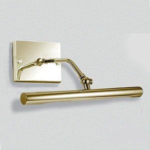 Arandela Tubular em Metal Dourado Calha 31cm