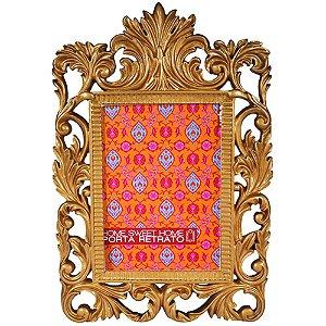 Porta Retrato em Resina Dourado 22x32cm