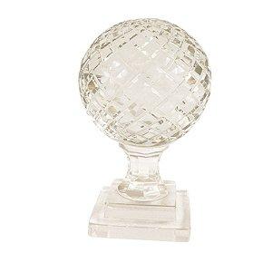 Globo Decorativo em Vidro Transparente 11x22cm