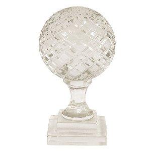 Globo Decorativo em Vidro Transparente 9x17cm