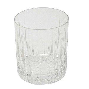 Jogo de 6 Copos de Cristal Cilindrico Baixo com Relevo