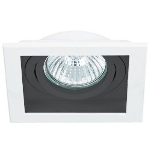 Spot Embutido Quadrado Conecta 1X Dicróica Branco e Preto