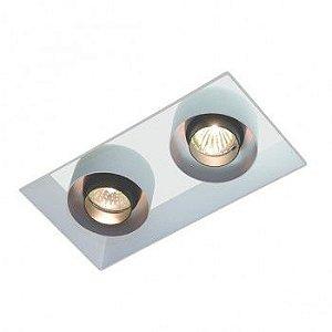 Luminária de Embutir Retangular 16x26cm GU10