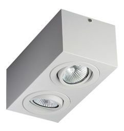 Luminária de Sobrepor Orientável 2xMR16 11x11x21cm