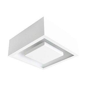Luminária Sobrepor Quadrada Hide LED 12W 3000K 22x22cm