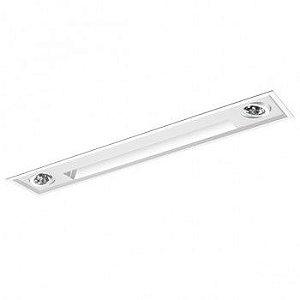 Luminária Embutir Wall Washer 15x84cm com Foco Direcional AR70