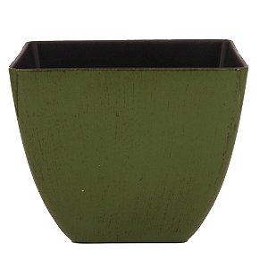 Vaso Decorativo Verde Plástico 16x13cm