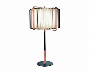 Luminária de Mesa em Metal e Tecido 65cm