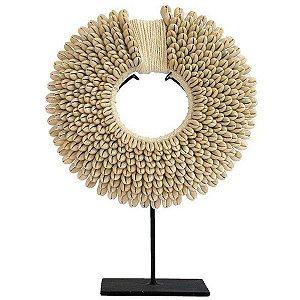 Colar Decorativo de Conchas Branco 45cm