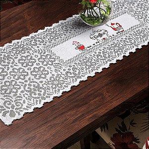 Trilho Valência Branco Café Vermelho 40cmX150cm Interlar - 161190
