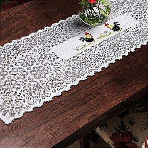 Trilho Valência Branco Galinha com Ovos 40cmX150cm Interlar - 161220