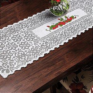 Trilho Valência Branco Morangos 40cmX150cm Interlar - 161237