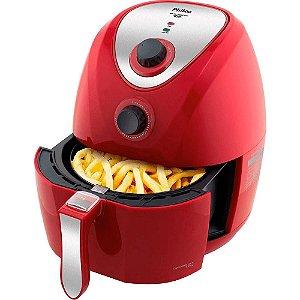 Fritadeira Philco Air Fry Saúde Inox PH 3,2 Litros 110v Vermelho