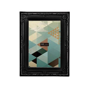 Porta Retrato Retangular Mart Collection 13x18cm Preto Antique