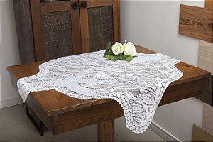 Toalha Quadrada Branca Com Estampa De Tulipinhas 75CM X 75CM Interlar - 100489