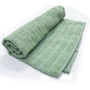 Toalha De Banho modelo Barra –Cor Verde 68cm X 1,28m