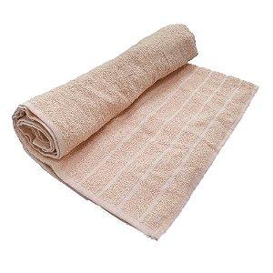 Toalha De Banho Barra – Cor Rosa Claro 68cm X 1,28m