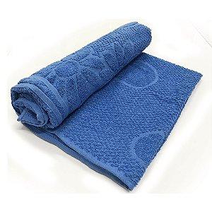 Toalha De Banho Luxo – Cor Azul 68cm X 1,28m