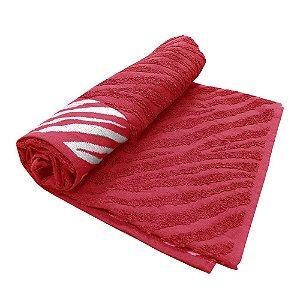 Toalha De Banho Safari – Cor Vermelha 75cm X 1,40m