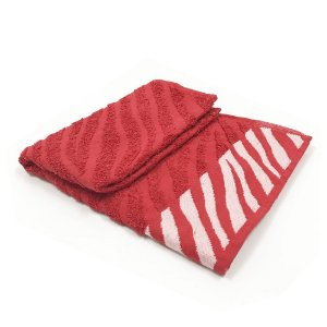Toalha De Rosto Safari - Cor Vermelha  47x77 cm