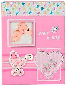 Álbum carrinho de bebê rosa