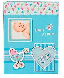 Álbum carrinho de bebê azul