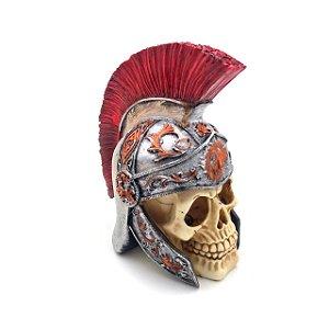 Cofre em caveira de capacete Romano