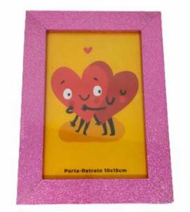 Porta retrato gliter rosa 10x15