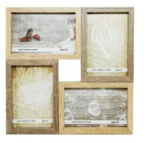 Porta retrato de madeira 20 cm