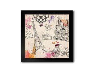 Quadro Paris Mon Amour