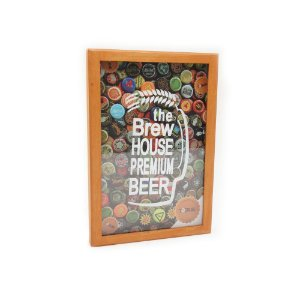 QUADRO PORTA TAMPINHAS THE BREW HOUSE PREMIUM BEER