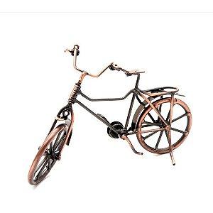Enfeite Bicicleta ouro velho vintage