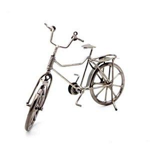 Enfeite Bicicleta prata vintage